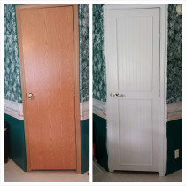 Door painting before and after by Rad Painting Services