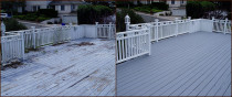 Deck painting before and after by Rad Painting Services