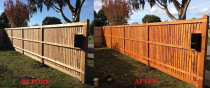 Fence painting before and after - Rad Painting Services