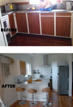 Renovations by Design - Farmhouse kitchen - before and after renovation