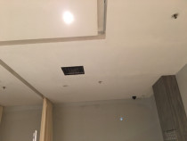 Replace new ceiling board, plaster & paint