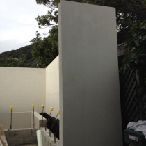 Solid Plaster retaining walls