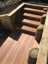 Sail City Construction Ltd - cedar road new build - kwila  stairs and decking