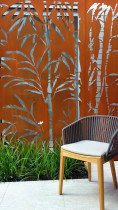 Seed Landscapes - Screens - Seed Landscapes bamboo laser cut design in corten steel that naturally ages to a rusted patina which sits beautifully in the garden.