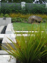 Seed Landscapes - Waterfeature - A series of water-features linked by a rill in a contemporary garden.