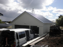 New garage Roof and spouting - Glenfield