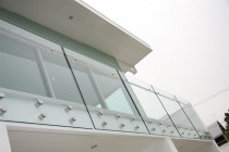 Face fixed glass balustrade by Shower Solutions