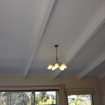 Varnished ceilings changed to paint.