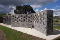Ashes wall by Stone Creations - Can be viewed at Papakura Cemetery.