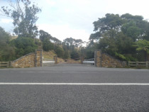 Entranceway using Basalt boulders from farm with recycled kerbs - Entranceway can be viewed on Kopu Hikuai rd. Coromandel
