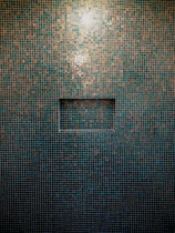 Bizzasa Mosaic Wall with recessed soap box - Style with Tile Ltd