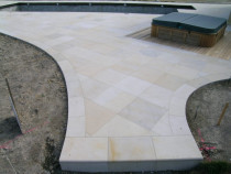 outside project / pool/ sandstone - Style with Tile Ltd