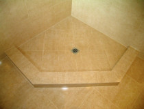 porcelain shower base with 1mm grout join - Style with Tile Ltd