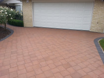 Driveway pavers brought back to life full colour after our enhancer sealer