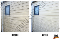 Before and After weatherboard home wash