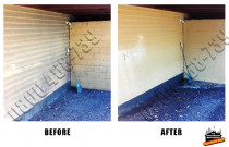 Before and After weatherboard basement