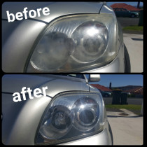 Clear Headlights Provide Better Vision At Night done by The Mobile Car Specialists Ltd