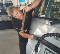 Dent Removal Is An Art by The Mobile Car Specialists Ltd - Anton in action.