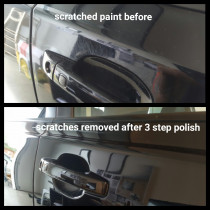 Badly Scratched Door Handle Area - Before & after detailing.