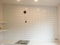 30X10 wall tile large wall area by The Tiler