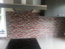 Glass mosaic feature by The Tiler