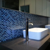 Mosaic vanity up-stand by The Tiler