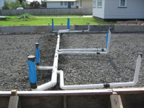 Pvc Pipeout - Pre slab Pvc pipeout Waitng for backfill