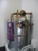 Low Pressure Hwc Setup - This was a low pressure Hwc setup in a portacom W.C block to give hot water to basins in two toilet blocks
