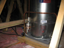 Mains Pressure Hot Water Cylinder - Hwc instaled in a ceiling space using copper pipes
