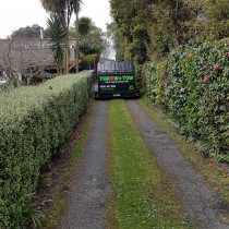 Narrow tree lined drives are no problem to Throw n' Tow - If you have a narrow tree lined drive that is impassable to trucks with a conventional bin then give us a call and there is every possability that we can get you a bin right to your door.