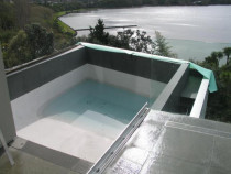 Swimming pools & decks - Waterlines in a pool vary according to the tiles used.