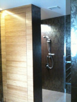 Patterned Glazed Ceramic in Shower by Tile Technix Ltd - Tilers