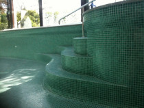 Curved Glass Mosaic Steps by Tile Technix Ltd - Tilers