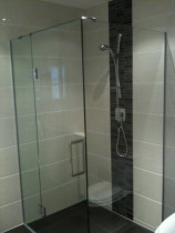 Glassed Ceramic With Inset Feature by Tile Technix Ltd - Tilers
