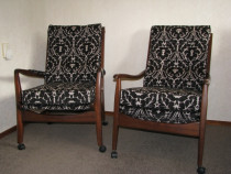 Recovered bedside chairs   - Topstitch Upholstery