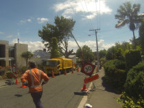 Traffic control - Full traffic control to create space for the hiab crane at a site in Grey Lynn