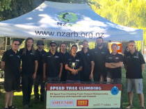 Australia vs New Zealand tree climbing competition