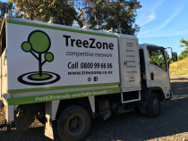 One of the fleet - The TreeZone trucks are equipped to handle any job.