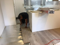 Laying a new kitcheen floor - A brand new kitchen floor installed by TT Quality Services