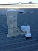 Roof Penetration - Vincent Install Ltd - Typical Steel Roof Penetration & roof mounted Outdoor Unit