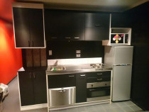 Carbon vinyl kitchen wrap