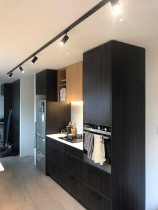 Kitchen Fit Out Avondale - New Residential Kitchen, Updated lighting with 5 metres of LED track running throughout kitchen area carried out by Vital Electrical Limited