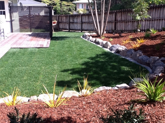 Down2earth landscaping ltd landscaping services forrest for Auckland landscaping services ltd
