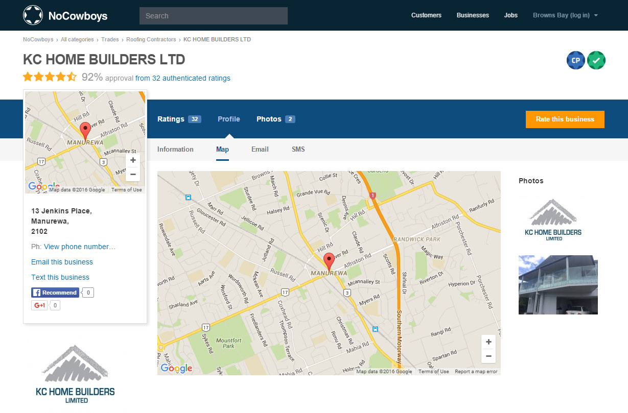 Show the location of your business on the map